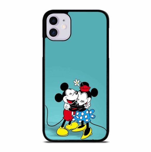MICKEY MOUSE HUGGING MINNIE MOUSE iPhone 11 Case