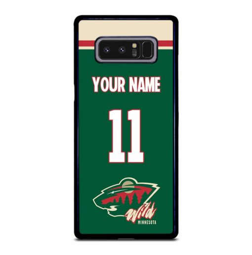 NHL Minnesota Wild Personalized Name Samsung Galaxy Note 8 Case