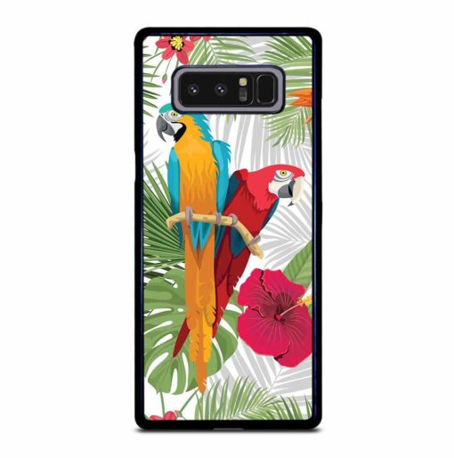 PARROTS AND TROPICAL FLOWERS Samsung Galaxy Note 8 Case