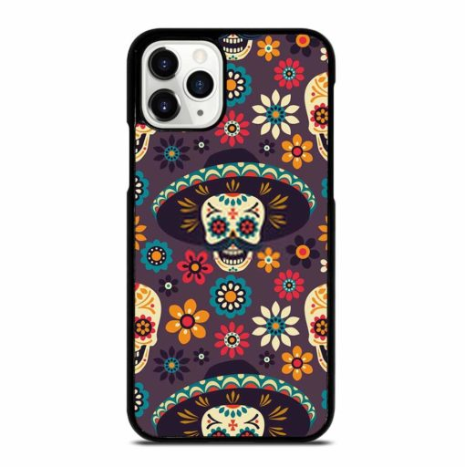 PATTERN SUGAR SKULLS AND FLOWERS iPhone 11 Pro Case