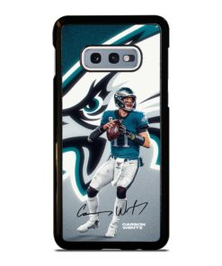 Philadelphia Eagles Carson Wentz Samsung Galaxy S10e Case