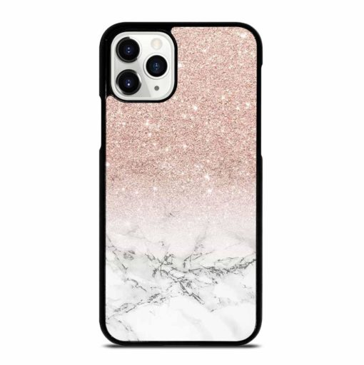 PINK AND GOLD GLITTER MARBLE iPhone 11 Pro Case
