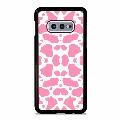 PINK AND WHITE COW PRINT Samsung Galaxy S10e Case
