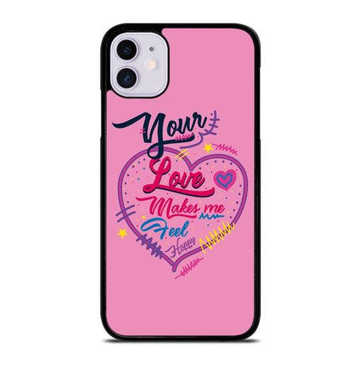Pink Love Quotes iPhone 11 Case