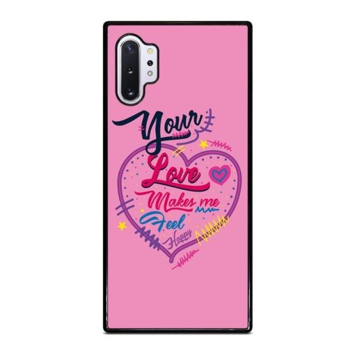 Pink Love Quotes Samsung Galaxy Note 10 Plus Case