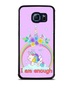 PINK UNICORN FLYING Samsung Galaxy S6 Edge Case Cover