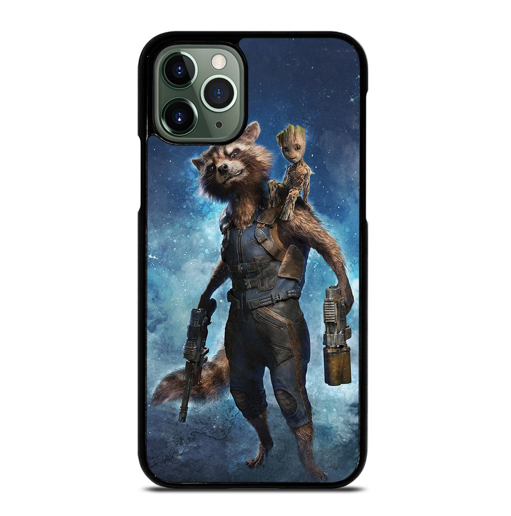 Rocket Raccoon and Baby Groot Heroes iPhone 11 Pro Max Case