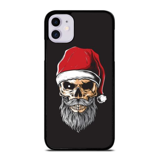 SANTA CLAUS PIRATE SKULL iPhone 11 Case