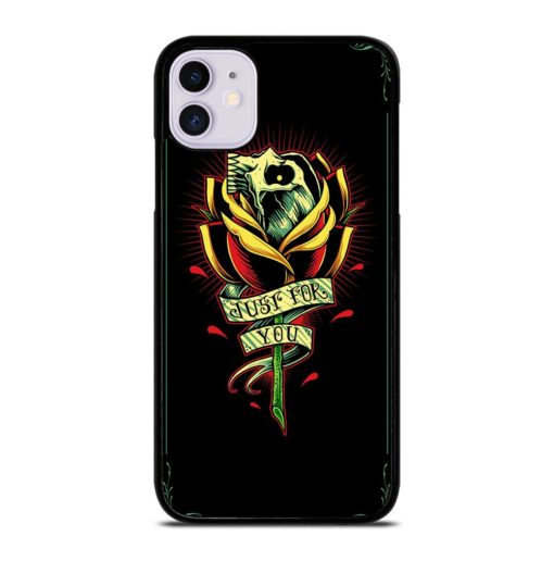 Skull and Rose Art iPhone 11 Case