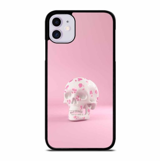 SKULL DECORATED PINK ROSES iPhone 11 Case