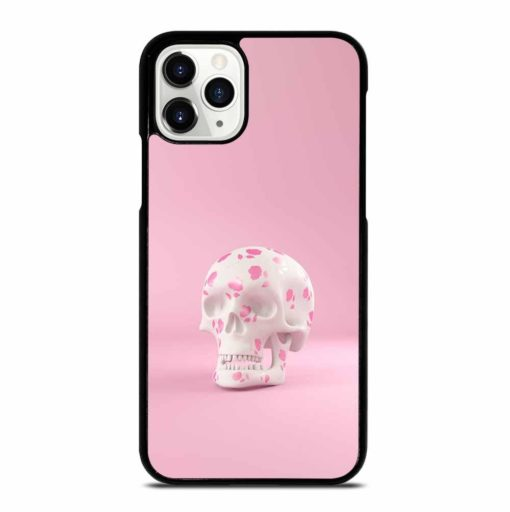 SKULL DECORATED PINK ROSES iPhone 11 Pro Case