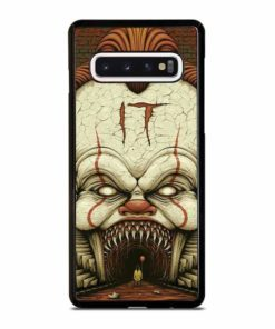 STEPHEN KING IT PENNYWISE CLOWN HORROR MOVIE Samsung Galaxy S10 Case Cover