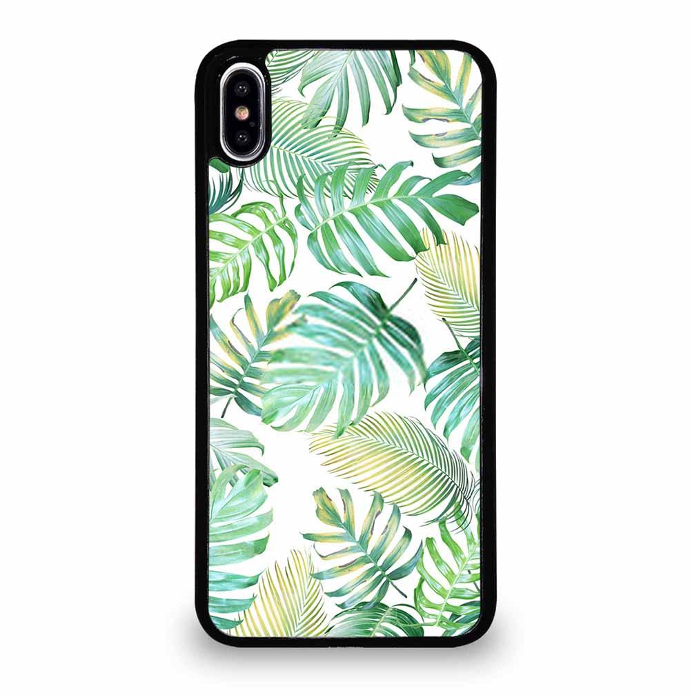 TROPICAL PALM LEAVES IN LIGHT GREEN-YELLOW COLOR TONE iPhone XS Max Case