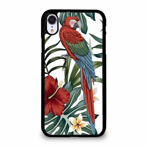 VINTAGE TROPICAL MACAW PARROT iPhone XR Case