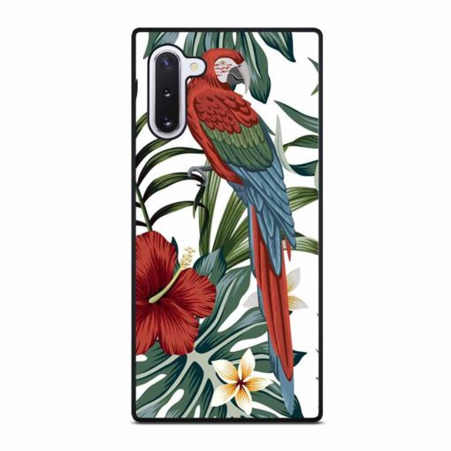 VINTAGE TROPICAL MACAW PARROT Samsung Galaxy Note 10 Case