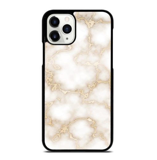 WHITE GOLD MARBLE TEXTURE iPhone 11 Pro Case