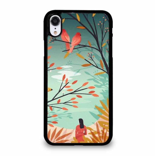 WOMAN BENEATH TREES iPhone XR Case Cover