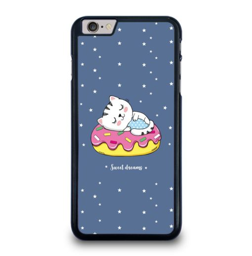 CAT SLEEPING INSIDE PINK DONUT iPhone 6 / 6s Plus Case Cover