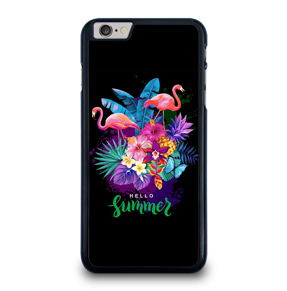 EXOTIC FLOWERS TROPICAL SUMMER FLAMINGOS iPhone 6 / 6S Plus Case