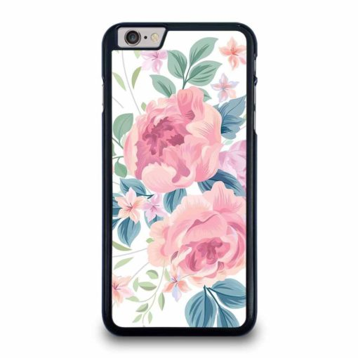 FLOWER ROSE WHITE BACKGROUND PATTERN iPhone 6 / 6s Plus Case Cover