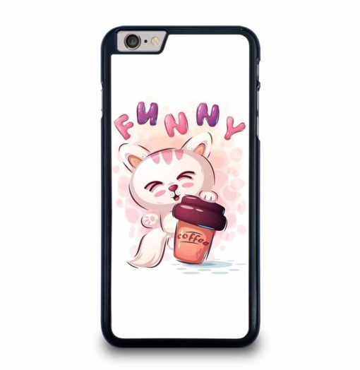 FUNNY CAT COFFEE iPhone 6 / 6s Plus Case Cover