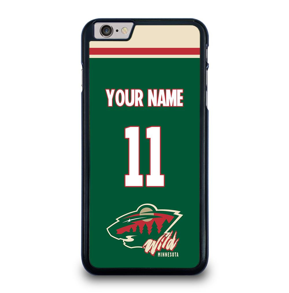 NHL Minnesota Wild Personalized Name iPhone 6 / 6s Plus Case Cover
