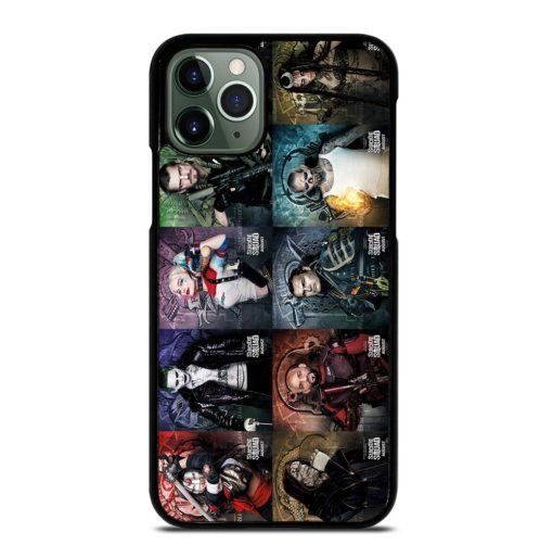 SUICIDE SQUAD CHARACTER LIST iPhone 11 Pro Max Case