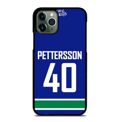 VANCOUVER CANUCKS ELIAS PETTERSSON HOME JERSEY BACK iPhone 11 Pro Max Case