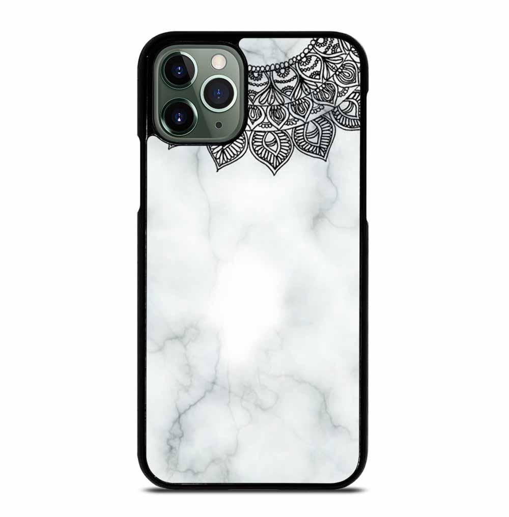WHITE MARBLE MANDALA iPhone 11 Pro Max Case