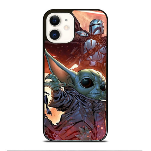 BABY YODA AND THE MANDALORIAN for iPhone 12 Case Cover