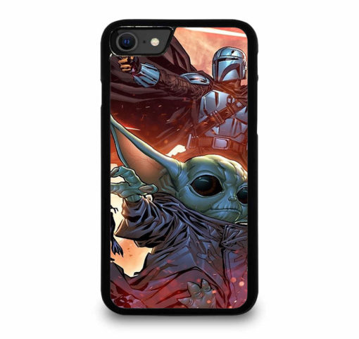 BABY YODA AND THE MANDALORIAN for iPhone SE (2020) Case