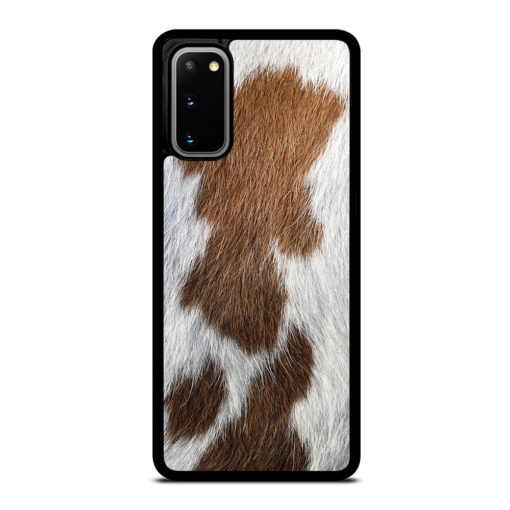 BROWN COWHIDE TEXTURE for Samsung Galaxy S20 Case Cover