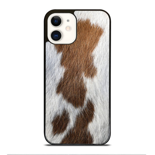 BROWN COWHIDE TEXTURE for iPhone 12 Case Cover