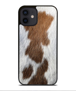 BROWN COWHIDE TEXTURE for iPhone 12 Mini Case Cover