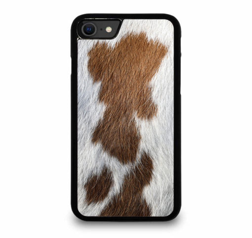 BROWN COWHIDE TEXTURE for iPhone SE (2020) Case Cover