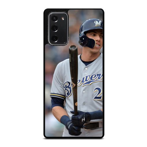 Christian Yelich Milwaukee Brewers for Samsung Galaxy Note 20 Case Cover