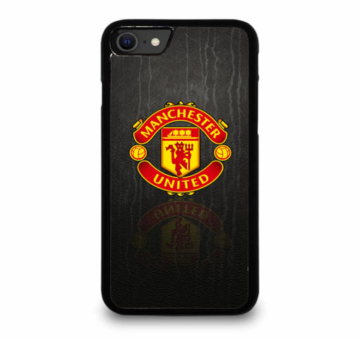 MANCHESTER UNITED LOGO PATTERN for iPhone SE (2020) Case