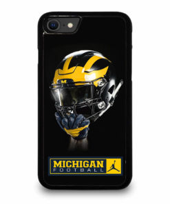 MICHIGAN WOLVERINES HELMET for iPhone SE (2020) Case