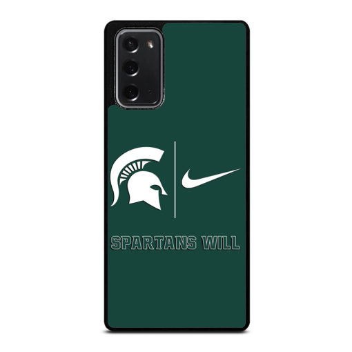 Michigan State Spartans Nike for Samsung Galaxy Note 20 Case Cover