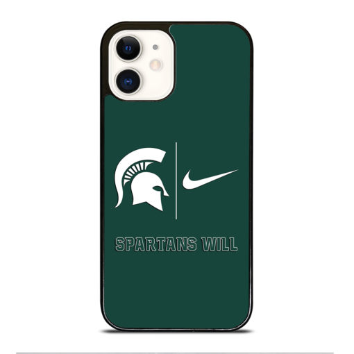 Michigan State Spartans Nike for iPhone 12 Case Cover
