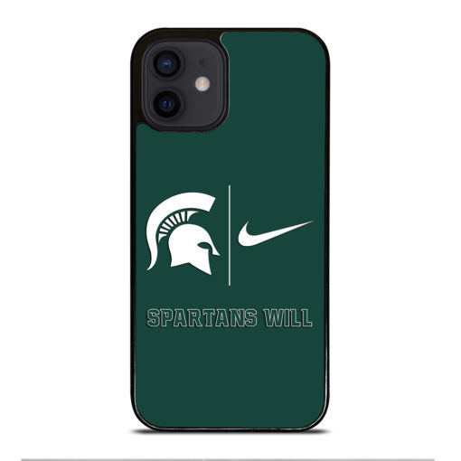 Michigan State Spartans Nike for iPhone 12 Mini Case Cover