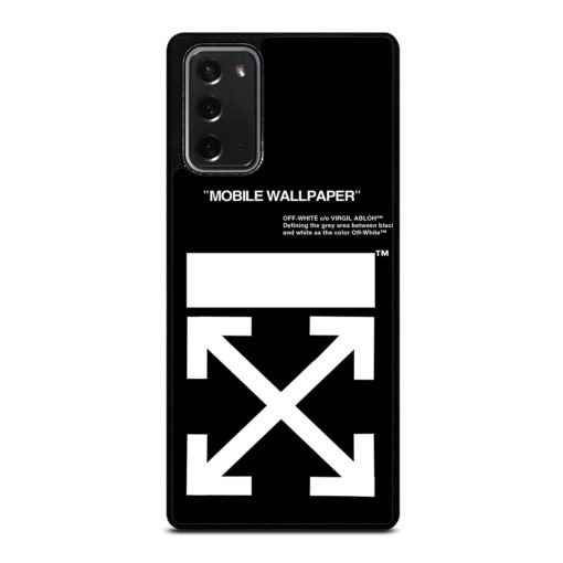 Off White Logo for Samsung Galaxy Note 20 Case Cover