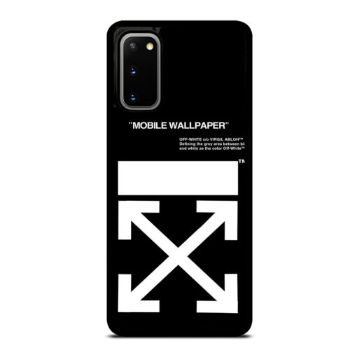 Off White Logo for Samsung Galaxy S20 Case Cover