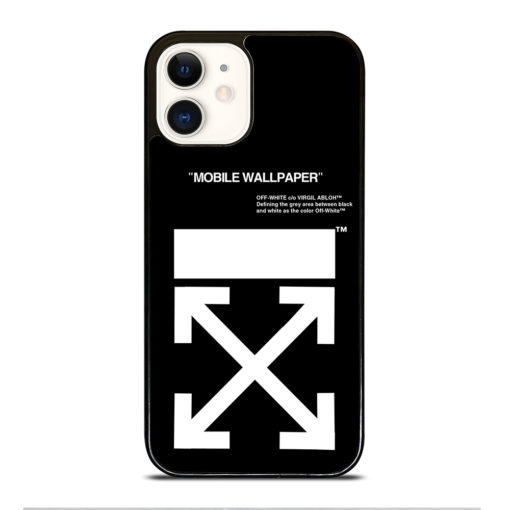 Off White Logo for iPhone 12 Case
