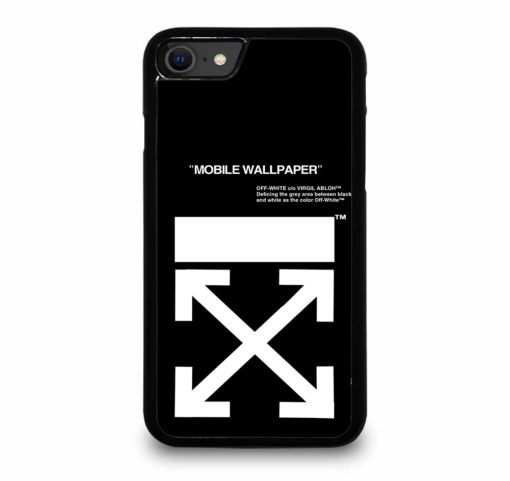 Off White Logo for iPhone SE (2020) Case Cover