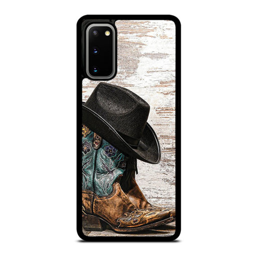 Rodeo Cowboy Lasso Boots for Samsung Galaxy S20 Case Cover