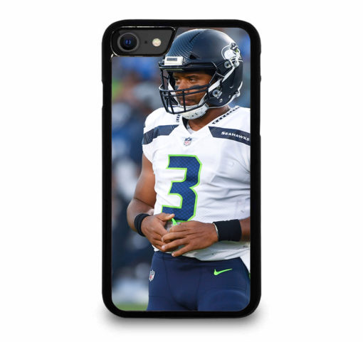 Russell Wilson Seattle Seahawks for iPhone SE (2020) Case Cover